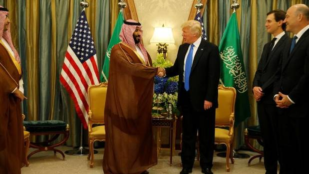 Trump hails huge Saudi arms deal as a jobs producer