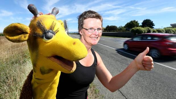 Marlborough's Life Education Trust got help to get Harold the Little Giraffe and his handler Genevieve McDonald into ...