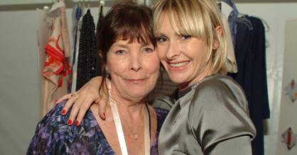 Patricia Taylor and daughter Rebecca at New York Fashion Week in 2007.