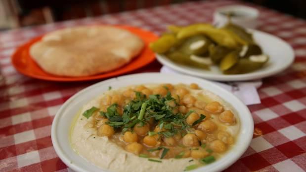 Hummus, an Israeli staple.