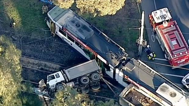 Dozens injured in Melbourne tram crash