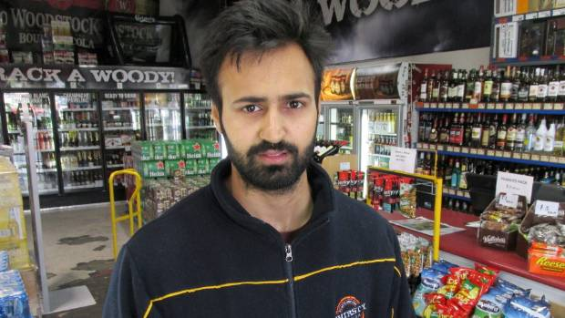 Gagan Singh manages the Thirsty Liquor store at the Mangere Town Centre.