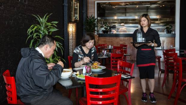 """The service was attentive at Vee N Zed Fusion Kitchen where you can choose Asian fare or """"Kiwi favourites""""."""