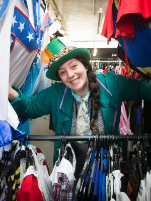Debee-May McCarthy, owner of Tops 'N' Tales Costume Hire shop in Hamilton East, is excited the Sevens is coming to town.