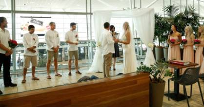 Steven and Kellie held their ceremony and reception at Brisbane Airport.