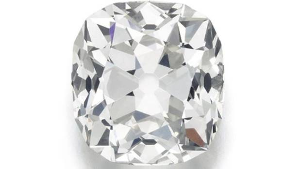 The 26 carat diamond is believed to have been cut in the 19th century, but no-one knows how it got to the car-boot sale.