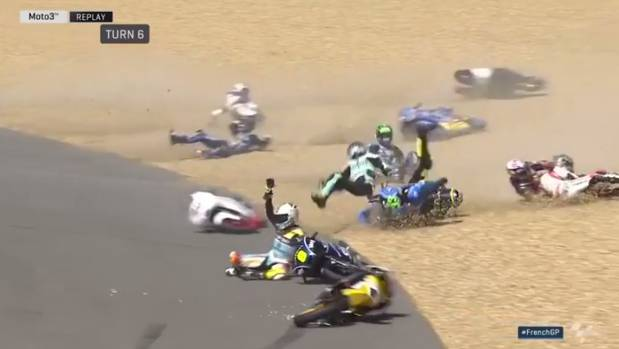 Oil Spill Sends Half Moto3 Riders Sliding Out Of Track