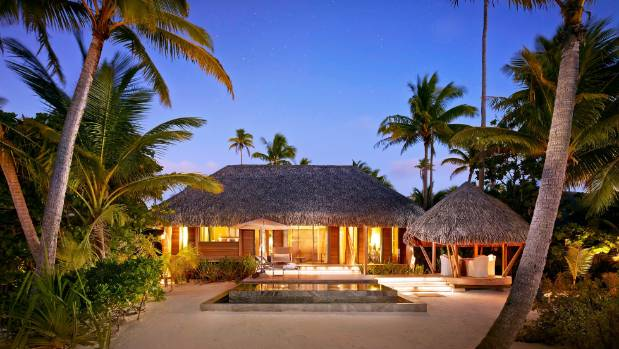 The resort has 35 individual thatched villas, with either