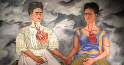 """""""The Two Fridas,"""" one of the many masterpieces of Frida Kahlo, is on display at the Museum of Modern Art in Mexico City."""
