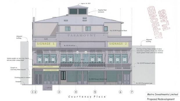 (Drawing): A resource consent was granted last year to adapt the Paramount building for residential use, despite its ...