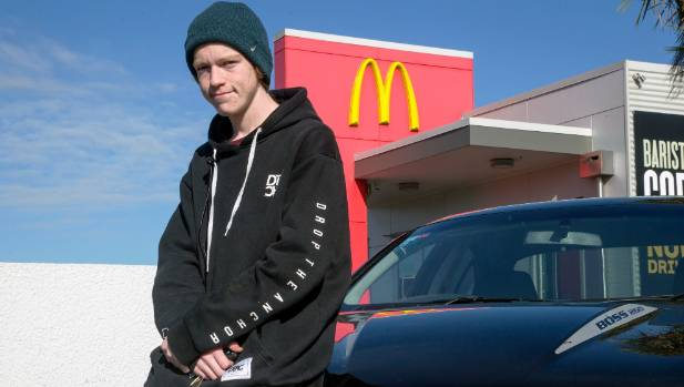 UCOL student Jack Townend eats McDonalds takeaways up to 6 times a week.