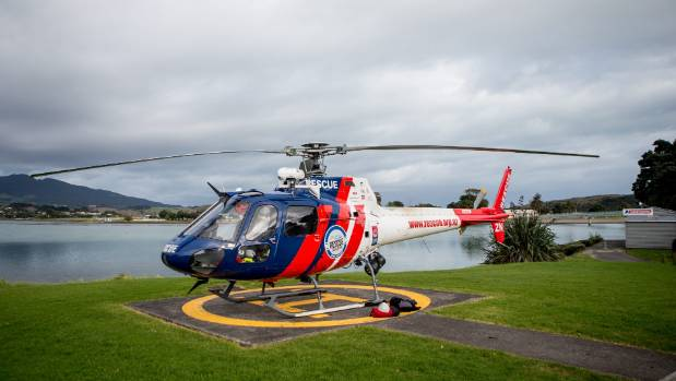 The BayTrust Rescue helicopter was used to airlift rescuers to the summit of Mt Karioi.