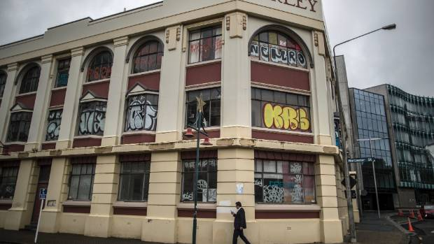 "Harley building on Cambridge Tce is understood to be one of the council's ""dirty 30"" derelict buildings."