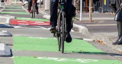 07042017 News Photo Stacy Squires/Fairfax NZ Christchurch CBD new cycle lanes. PHOTO: St Asaph St.