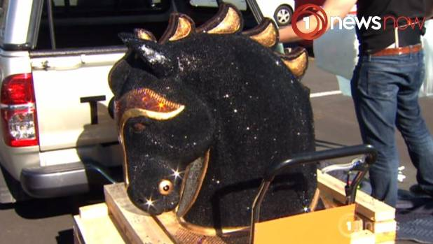 The sparkly diamante encrusted horse head sculpture hid 35kgs of cocaine.