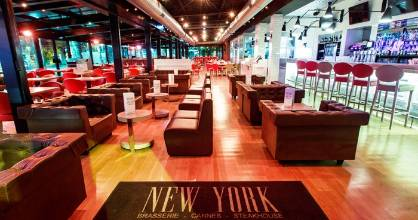 New York, New York specialises in over-the-top cocktail concoctions like the Flaming Lamborghini and the Blue Lagoon.