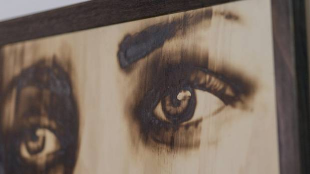 Suspect find images he thinks would look good in wood burn and replicates them on plywood.