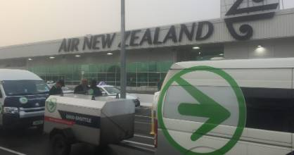 Seventy domestic regional flights were disrupted by fog sweeping across Auckland this morning.