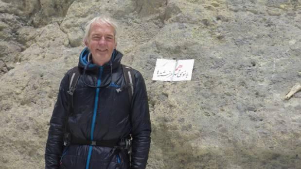 Peter Burke at the top of Iran's Mount Damavand.