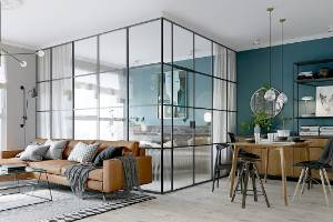 Are glass-walled bedrooms the new thing? This Kiev apartment by Martin Architects has been a hit on many design websites.