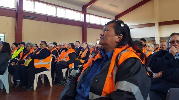 About 300 Wellington bus drivers met resolving not to sign any contract with new employers unless their current wages ...
