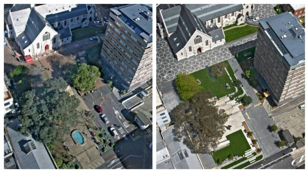 St Patrick's Square, before and after. De Lambert says the project is one of which she is most proud, and stands as an ...