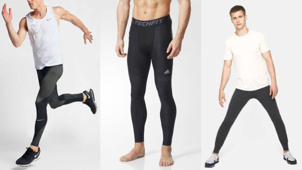 Where do you stand on men in tights? Examples from Nike, Adidas and Outdoor Voices.