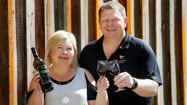 Former Sentry Hill Winery owners Wendy and Steve Parkes.