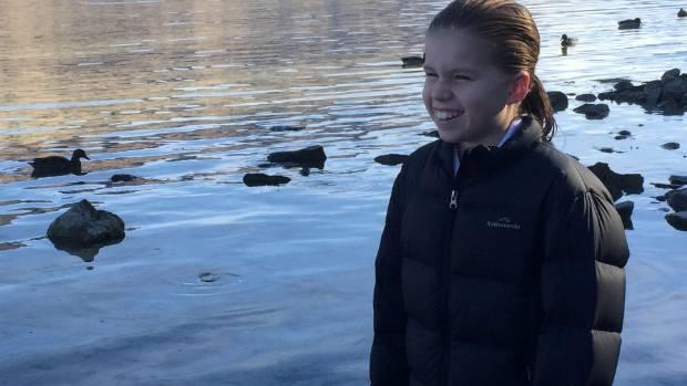 Laura Watkins, 11, is a keen sailor and loves Lake Wanaka.