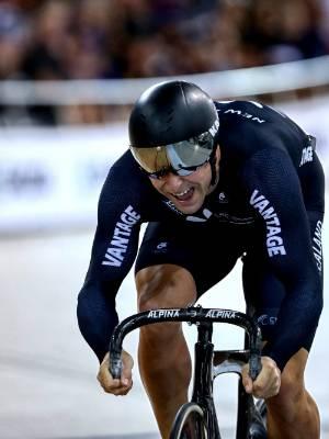 Cyclist Eddie Dawkins.