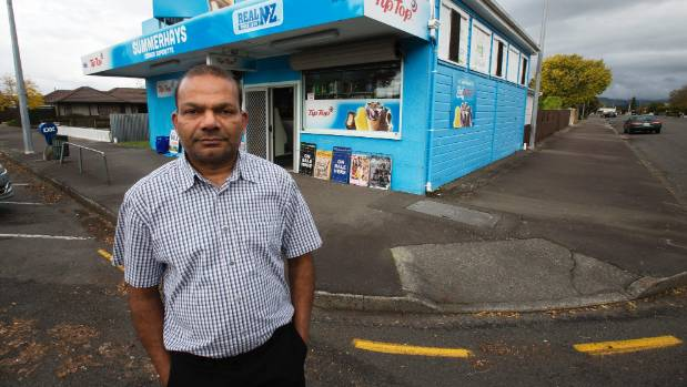 Manhar Patel, the owner of Summerhays Corner Superette, wants to see harsher penalties for robbers.