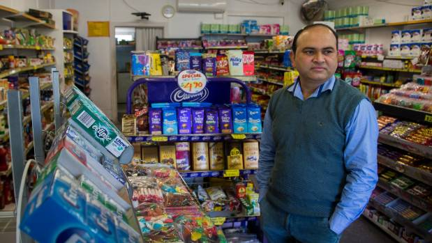 Rangiora Ave dairy owner Jayesh Patel is afraid of working in his store.