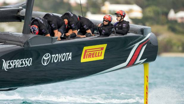 French crew in first America's Cup win, USA  beaten