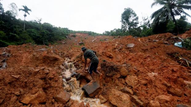 Floods, landslides kill at least 91 in Sri Lanka
