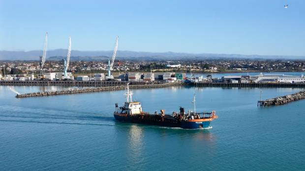 The Pelican Suction Dredge leaves Timaru for the last time. The ship has reached the end of its operational life and ...