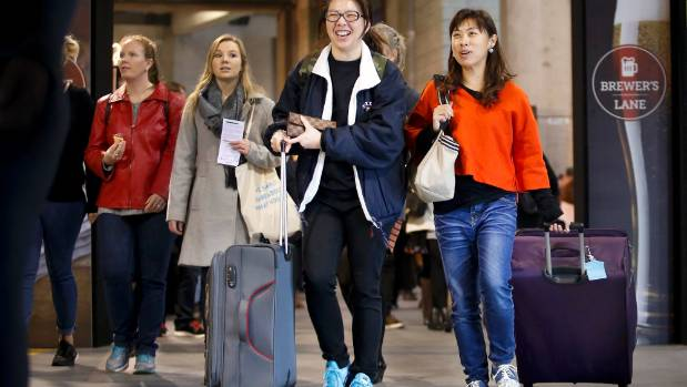 Serious shoppers (left to right) Winnie Cheung and Anita Li hit the annual food show with suitcases in tow, ready to ...