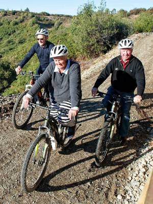 Three members of the Southland Community Trust were some of the first to experience the new section after the opening of ...