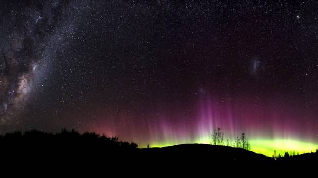 The Milky Way joined the Aurora in lighting up the sky in Wanaka.