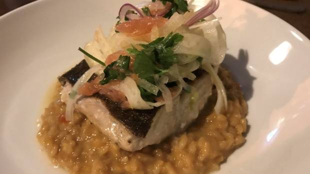 Market fish with risotto.