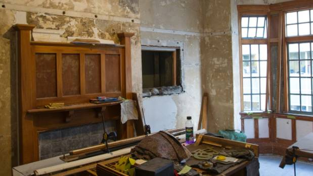 During the renovation. (File photo)