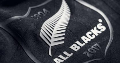 The All Blacks' new logo.