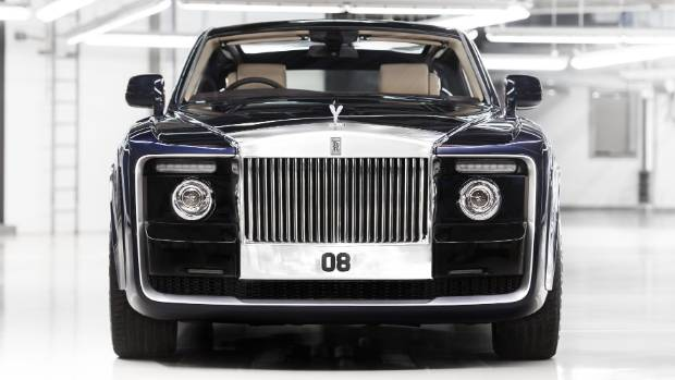 The grille of the Sweptail is the largest ever on any modern-era Rolls-Royce.