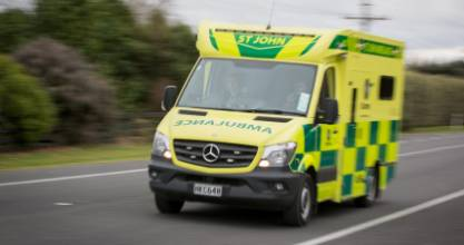 A man, 60, was airlifted to Dunedin Hospital on Monday morning after a truck hit him at the Cromwell Transfer Station.