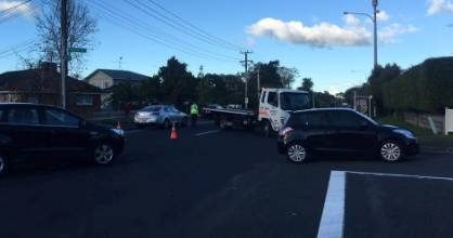 Traffic has been redirected into Hauraki side streets after a pedestrian was hit by a car on the corner of Lake Rd and ...