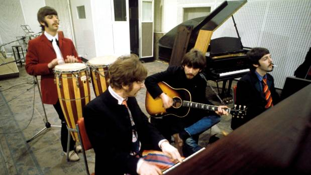 The recording for The Beatles' Sgt. Pepper's Lonely Hearts Club Band was a grand 1960s happening.