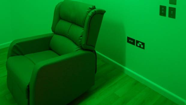 A leather chair is among the items youth offenders living with mental illness can access in Nga Taiohi's sensory room.