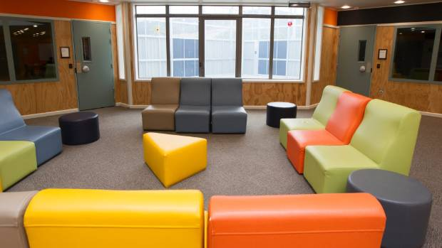 The colour scheme used a lounge in Nga Taiohi was chosen by the teenagers who live there.