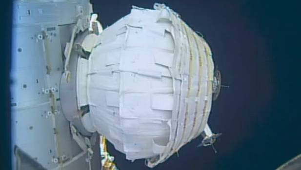 The Bigelow Expandable Activity Module (BEAM), which was attached to the Tranquility module of the International Space ...