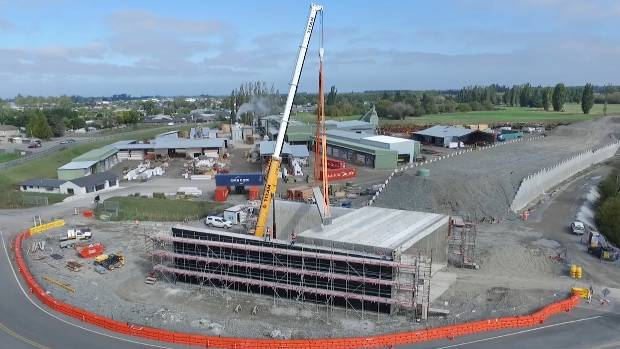 The Dickeys Rd bridge under construction, as part of the Western Belfast Bypass programme.