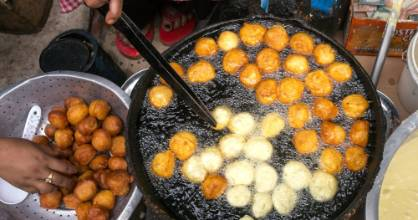 There are plenty of fried delights on Kathmandu's streets.